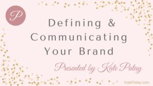Kate Patay Branding Speaker